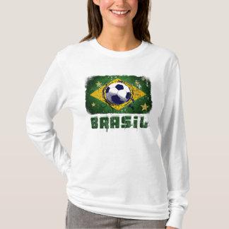 Grunge brazil soccer flag gifts T-Shirt