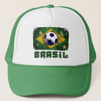 Grunge brazil soccer flag gifts trucker hat