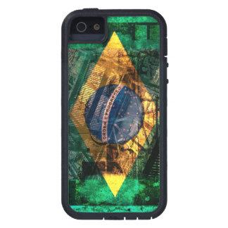 grunge brazilian flag collage iPhone SE/5/5s case