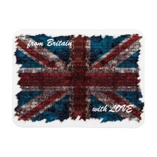 Grunge brick Union Jack magnet