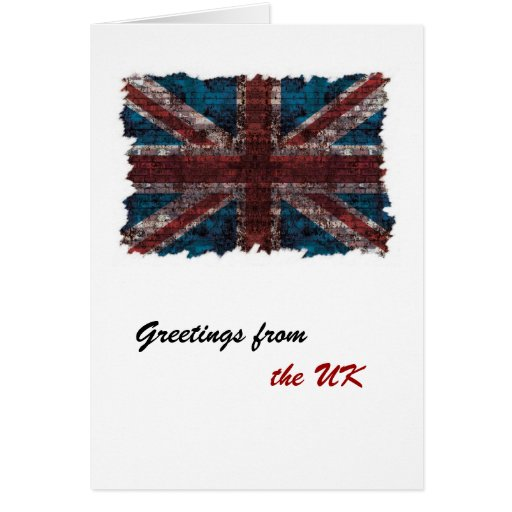 Grunge brick United Kingdom greeting card