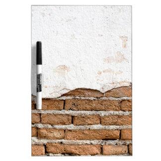 Grunge brick wall dry erase board