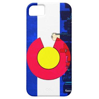 Grunge bright Denver Colorado flag skyline iPhone SE/5/5s Case