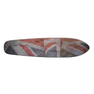 grunge británico 7-1/8 de dos banderas tabla de patinar