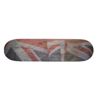 grunge británico de dos banderas patín