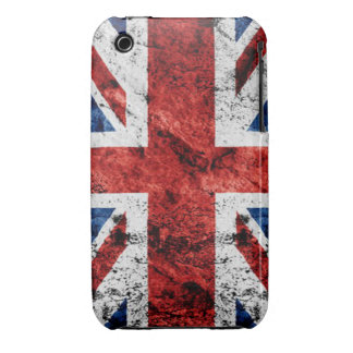 Grunge británico de la bandera de Union Jack Case-Mate iPhone 3 Cárcasas