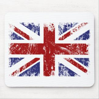 Grunge británico del punk de la bandera mouse pad