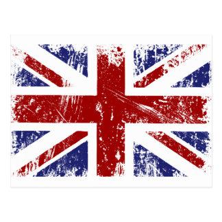 Grunge británico del punk de la bandera tarjeta postal