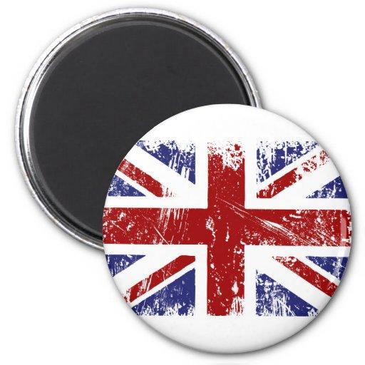 Grunge británico del punk de Union Jack de la Imán Redondo 5 Cm