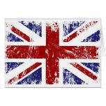 Grunge británico del punk de Union Jack de la Tarjeta De Felicitación