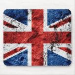 Grunge británico Mousepad de la bandera Tapetes De Ratón