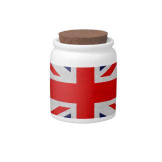 Grunge British Flag Candy Dishes