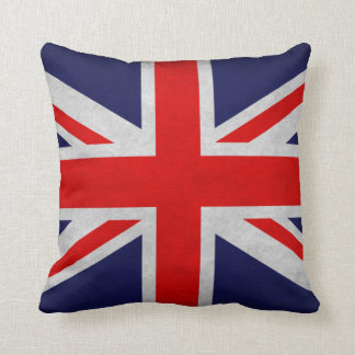 Grunge British Flag Pillow
