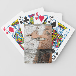 Grunge Brown and White Brick Wall Bicycle Playing Cards