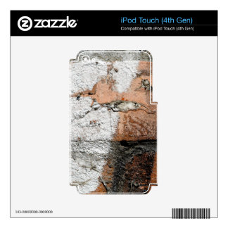 Grunge Brown and White Brick Wall Decal For iPod Touch 4G