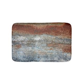 Grunge Brown Rust Texture Pattern Bath Mat