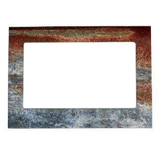 Grunge Brown Rust Texture Pattern Magnetic Picture Frame