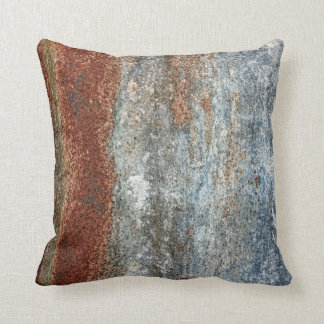 Grunge Brown Rust Texture Pattern Throw Pillow