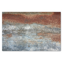 Grunge Brown Rust Texture Pattern Tissue Paper