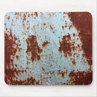 Grunge Brown Rusted Metal Pattern Mouse Pad