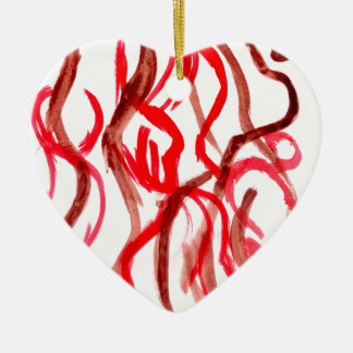 Grunge Brush Strokes Ceramic Ornament