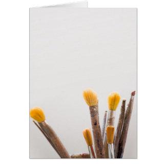 Grunge brushes greeting card