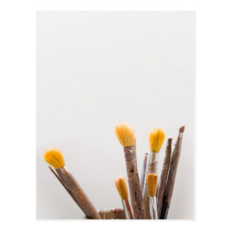 Grunge brushes postcard