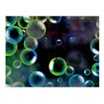 Grunge Bubbles Postcard