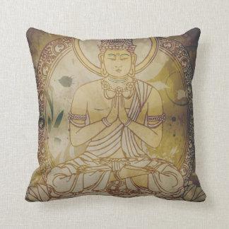 Grunge Buda del vintage Cojín