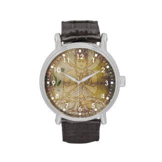 Grunge Buda del vintage Reloj