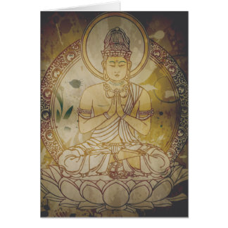 Grunge Buda del vintage Tarjetón