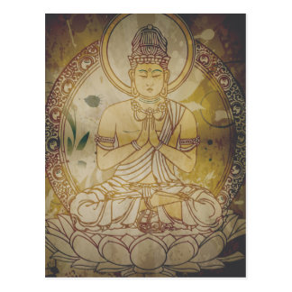 Grunge Buda del vintage Tarjetas Postales