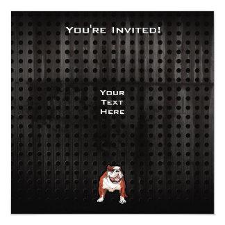 Grunge Bulldog Card