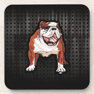 Grunge Bulldog Beverage Coaster