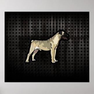 Grunge Bullmastiff Print