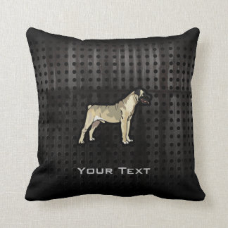Grunge Bullmastiff Throw Pillow
