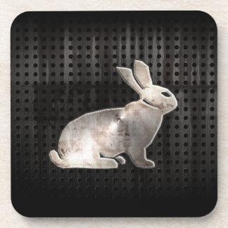 Grunge Bunny Drink Coaster