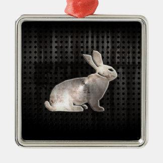 Grunge Bunny Ornaments