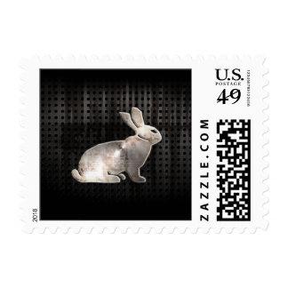Grunge Bunny Postage