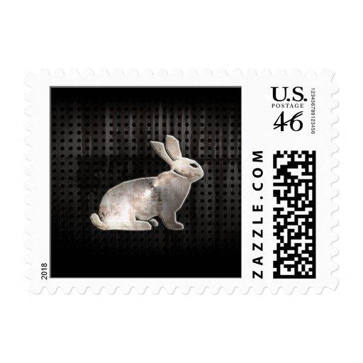 Grunge Bunny Stamp