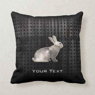 Grunge Bunny Throw Pillow