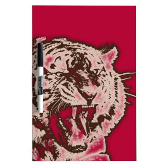 Grunge Burgundy Abstract Tiger Dry-Erase Board