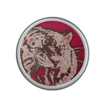Grunge Burgundy Abstract Tiger Speaker