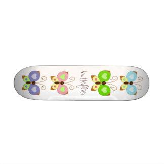 Grunge Butterflies Skateboard