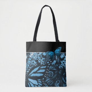 Grunge Butterfly Art Tote Bag