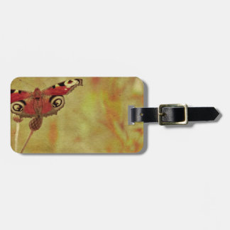 Grunge butterfly background 2 tags for bags