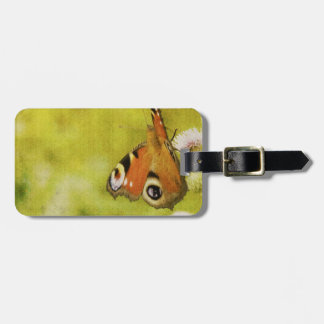 Grunge butterfly background 4 luggage tag