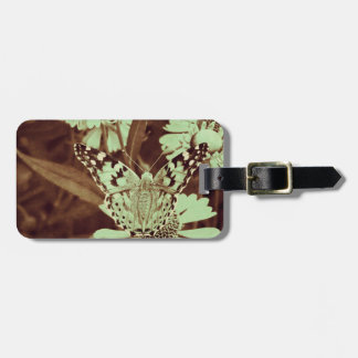 Grunge butterfly background 5 tags for luggage