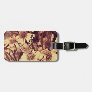 Grunge butterfly background 6 luggage tags