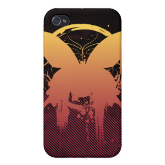 Grunge Butterfly Sunset iPhone 4G Case iPhone 4/4S Cases